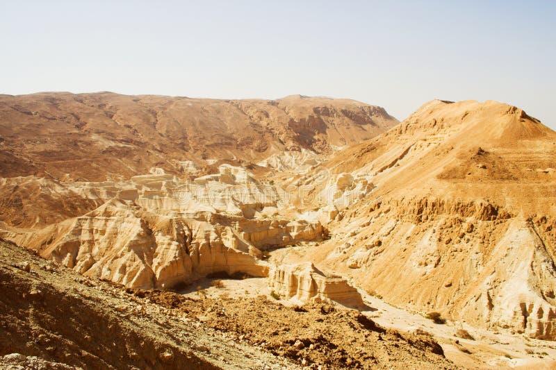 Malownicze antyczne góry o Nieżywym morzu w Izrael, podróży fotografia zdjęcie stock