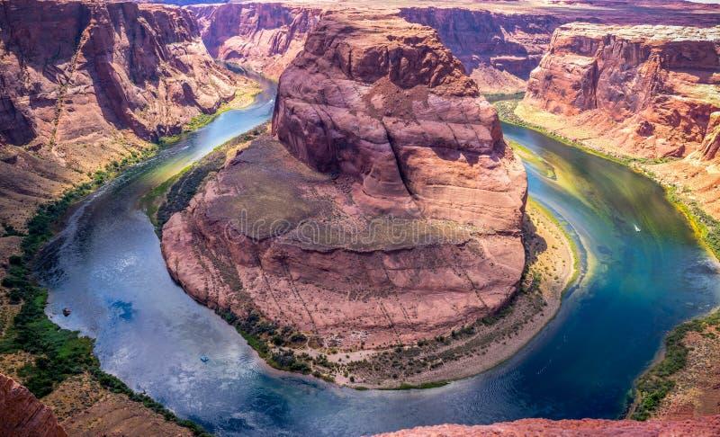 Malownicze skały Arizona Kolorado rzeka i Glenn jar Piękna sceniczna panorama fotografia royalty free