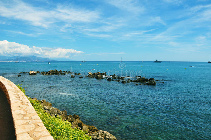 Malowniczy Antibes zdjęcia stock