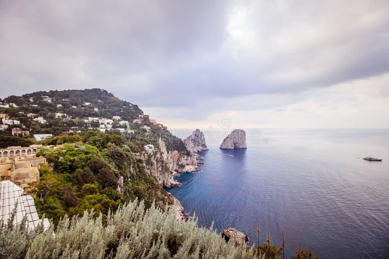 Malowniczy Augustus uprawia ogr?dek w Capri, W?ochy fotografia royalty free