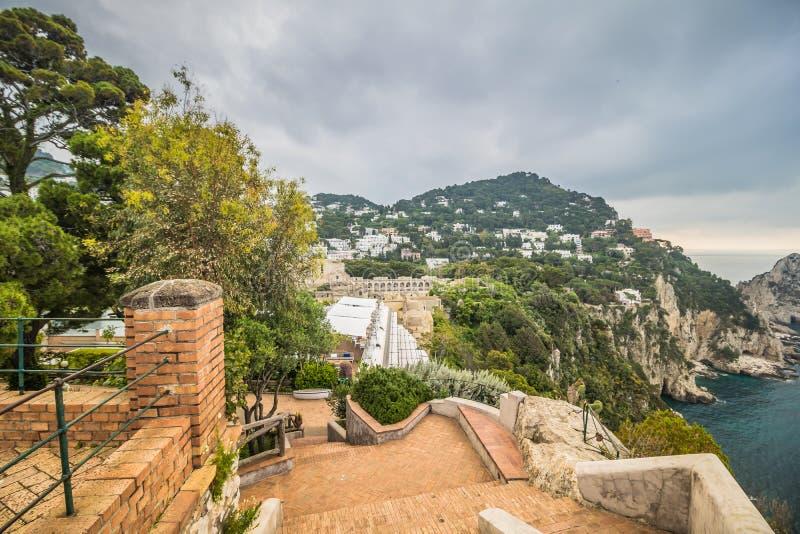 Malowniczy Augustus uprawia ogr?dek w Capri, W?ochy obrazy royalty free