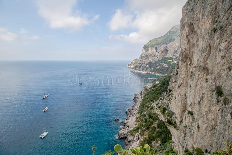 Malowniczy Augustus uprawia ogr?dek w Capri, W?ochy obrazy stock