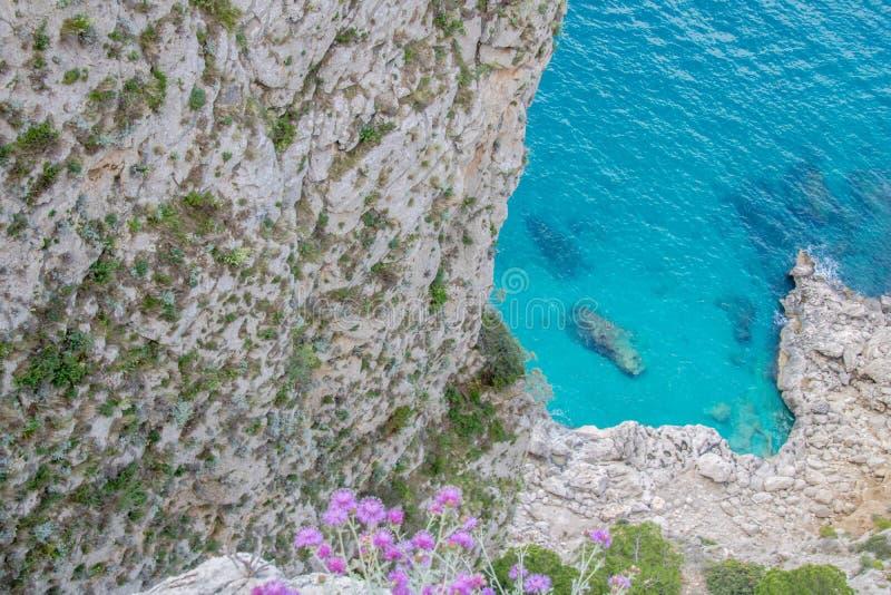 Malowniczy Augustus uprawia ogr?dek w Capri, W?ochy obraz royalty free