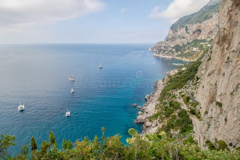 Malowniczy Augustus uprawia ogr?dek w Capri, W?ochy obraz stock