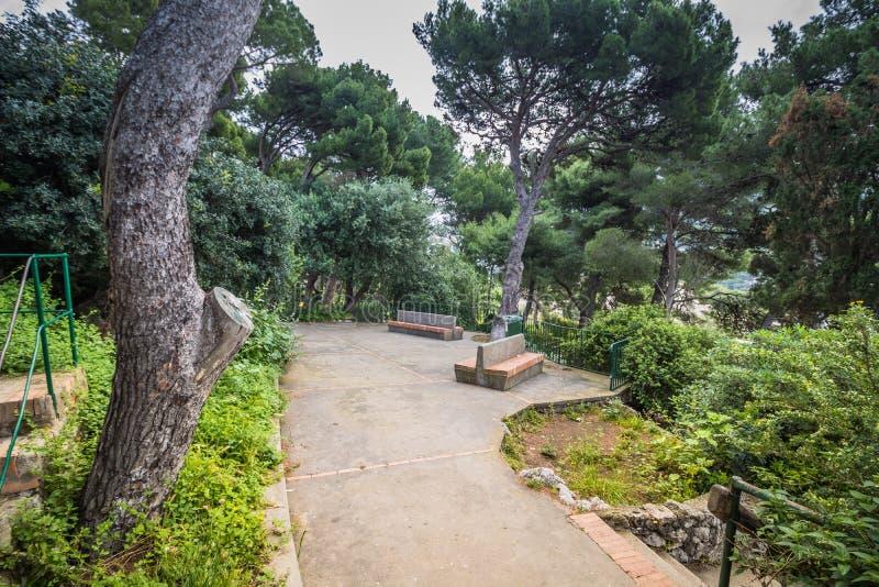 Malowniczy Augustus uprawia ogr?dek w Capri, W?ochy zdjęcie stock