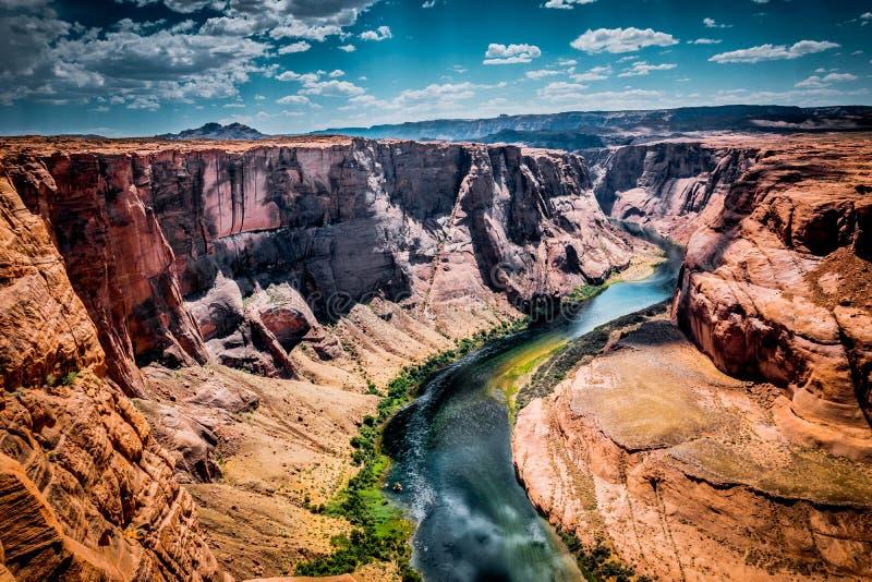 Malowniczy chył Kolorado rzeka Wzroku miejsce na krawędzi falezy blisko miasteczka strona, Arizona zdjęcie royalty free