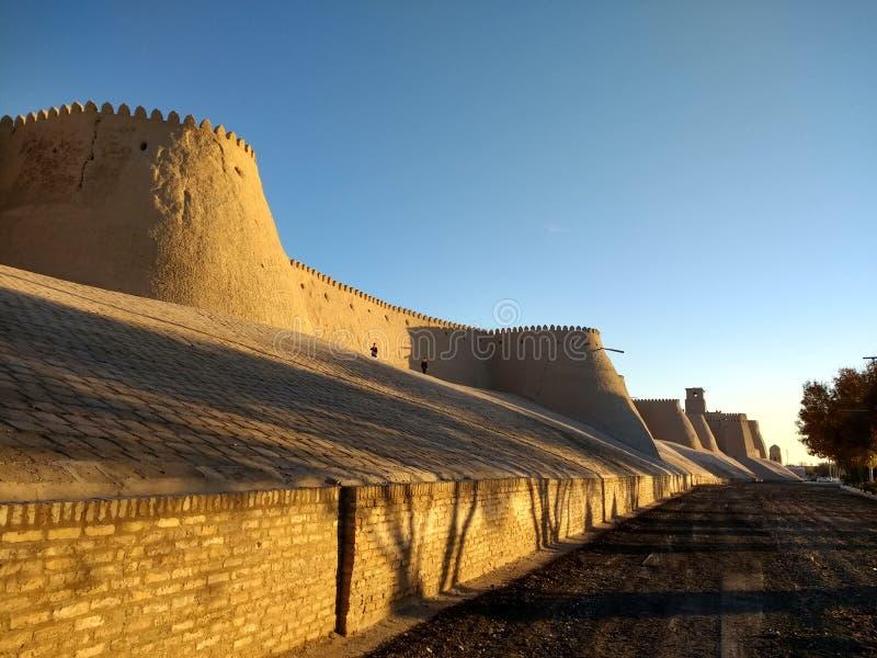 Malowniczy kąt w Khiva historyczny miasto Uzbekistan zdjęcie stock