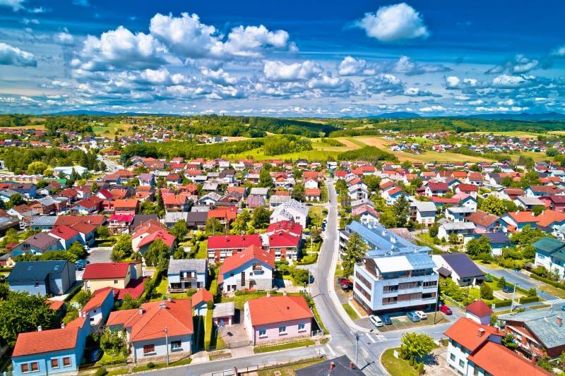 Malowniczy miasteczko Krizevci w Prigorje regionie Chorwacja obraz royalty free