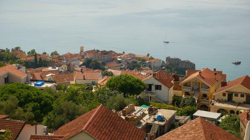 Malowniczy widok historyczny miasto Herceg Novi Stary zdjęcia stock