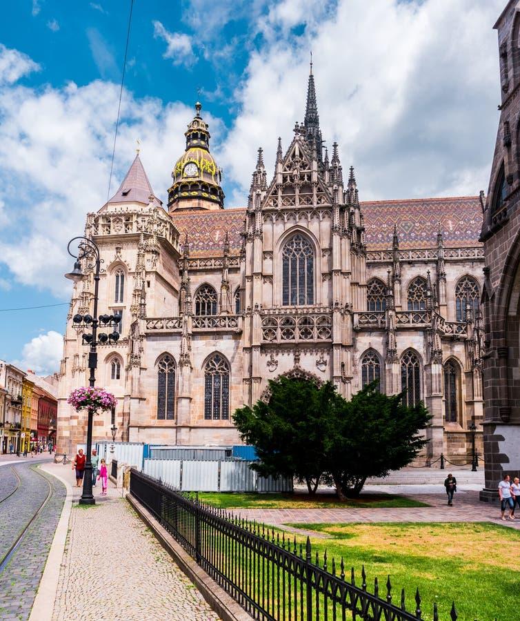 Malowniczy widok na majestatycznej St Elisabeth katedrze zdjęcie royalty free