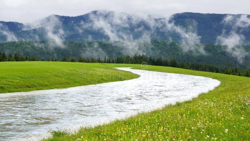 Malowniczy wiejski krajobraz. obrazy stock