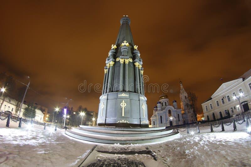MALOYAROSLAVETS, RUSSIE - DEC 2015 : Monument de la gloire de la guerre 1812 photos stock