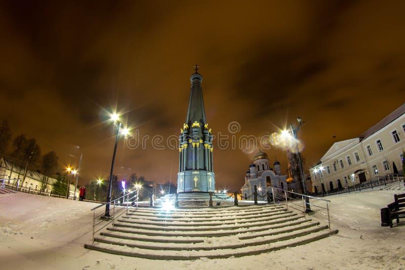 MALOYAROSLAVETS, RUSSIE - DEC 2015 : Monument de la gloire de la guerre 1812 photographie stock libre de droits