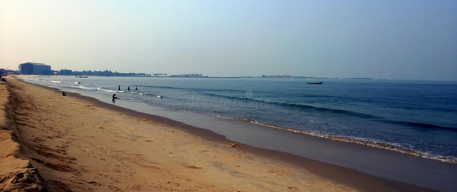 THE MALPE BEACH. Here is the photo of the beach is The Malpe beach udupi in india, the one of best and Beautiful place in udupi, for spending and enjoying time stock image