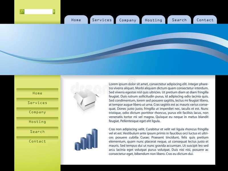 Malplaatje 7 van het Web vector illustratie