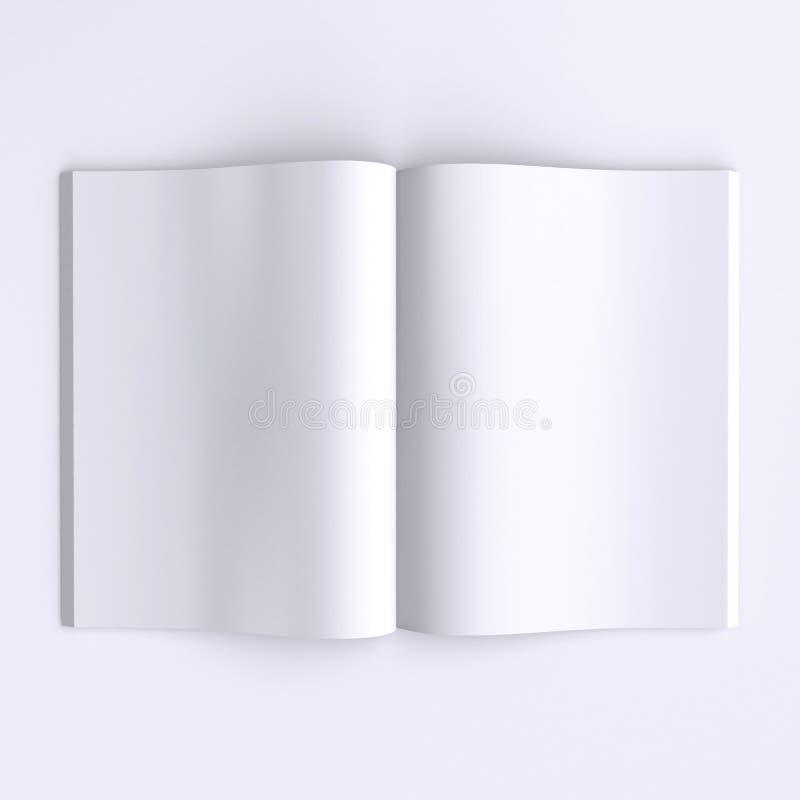 Malplaatje blanco pagina's van een open dagboek, kranten of boeken royalty-vrije illustratie