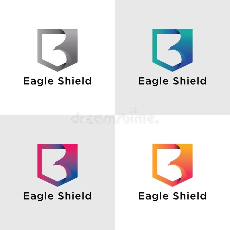 Malplaatje Eagle Logos royalty-vrije stock afbeeldingen