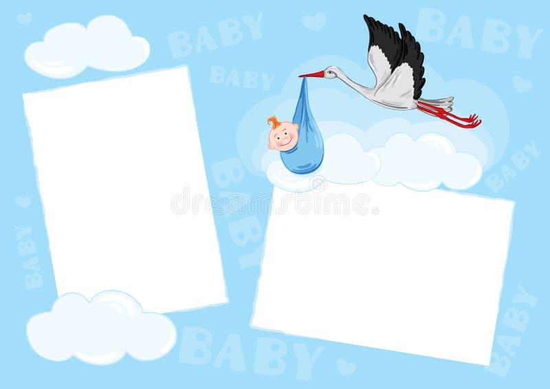 Malplaatje - fotoframe royalty-vrije illustratie
