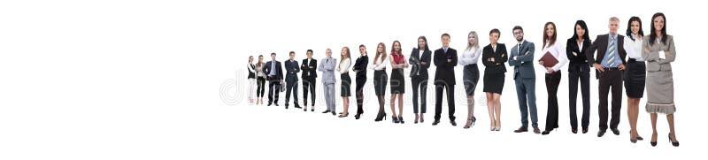 Malplaatje met een menigte van bedrijfsmensen stock foto