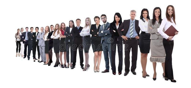 Malplaatje met een menigte van bedrijfsmensen royalty-vrije stock afbeeldingen