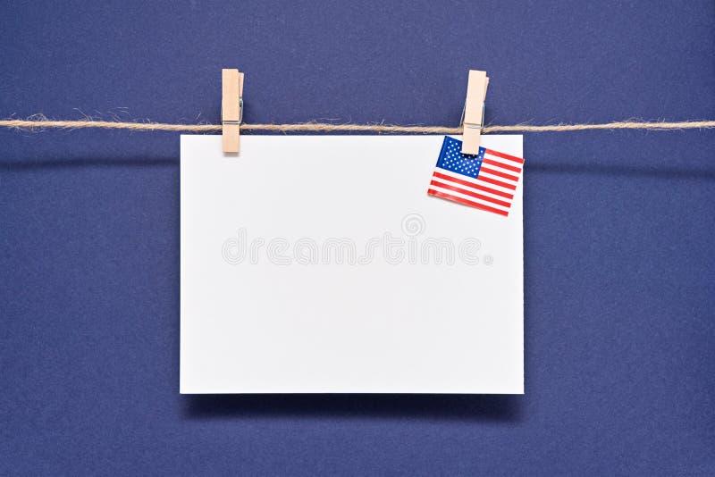 Malplaatje om een vakantie in de Verenigde Staten van Amerika te vieren royalty-vrije stock afbeeldingen