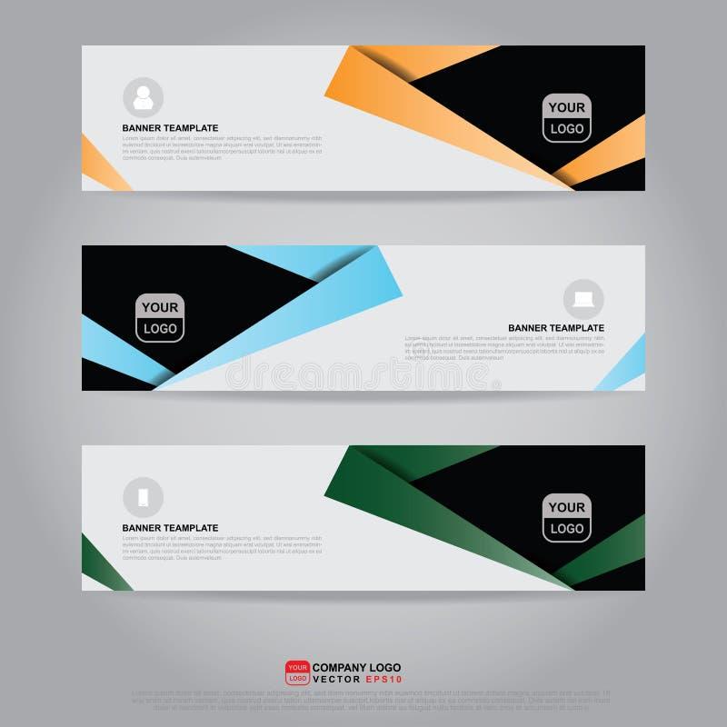 Malplaatje van banner, brochure, vlieger en kaartbon voor kopbal royalty-vrije illustratie