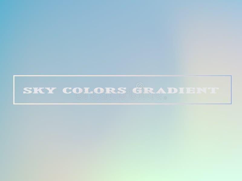 Malplaatje van de hemel het Blauwe Gradi?nt royalty-vrije illustratie