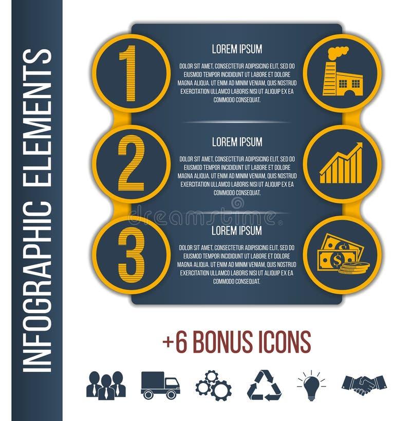 Malplaatje van de Infographic het geleidelijke brochure stock illustratie