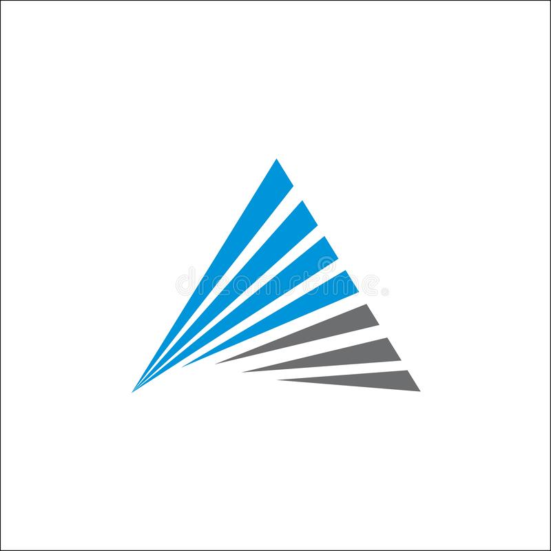 Malplaatje van de de initialenlijn van het driehoeksembleem het vector abstracte A vector illustratie