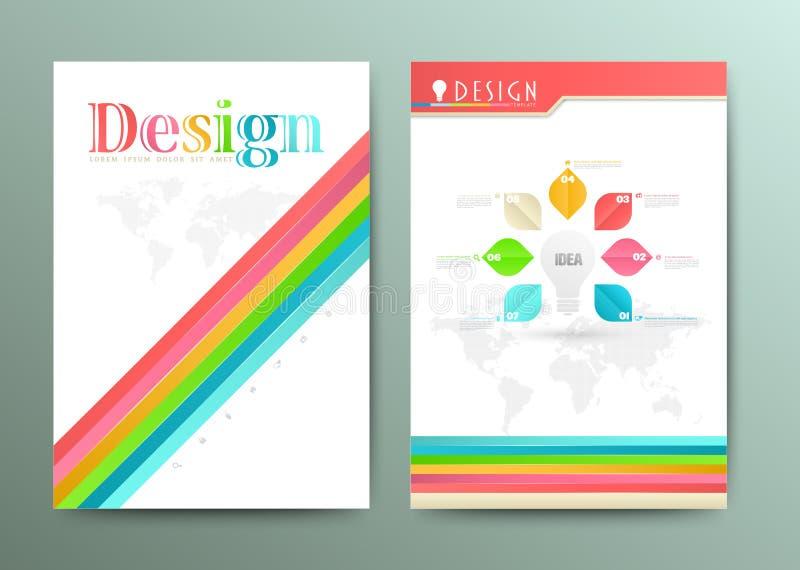 Malplaatje van de ontwerp het Abstracte Vectorbrochure EPS 10 vector illustratie
