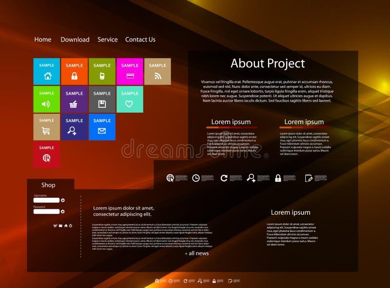 Malplaatje van de website het moderne kleur stock illustratie