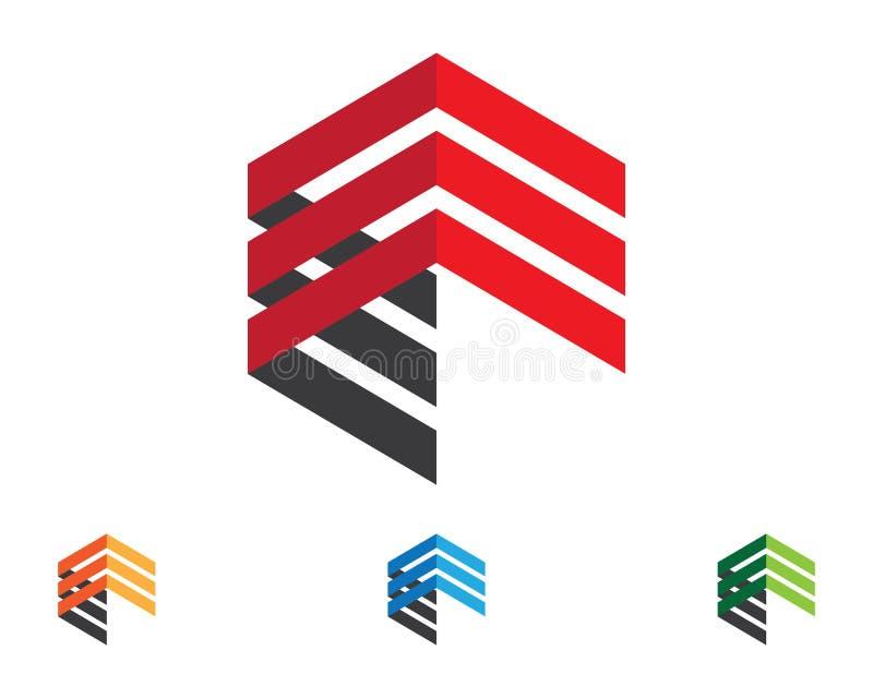 Malplaatje van het bedrijfsfinanciën het professionele embleem vector illustratie