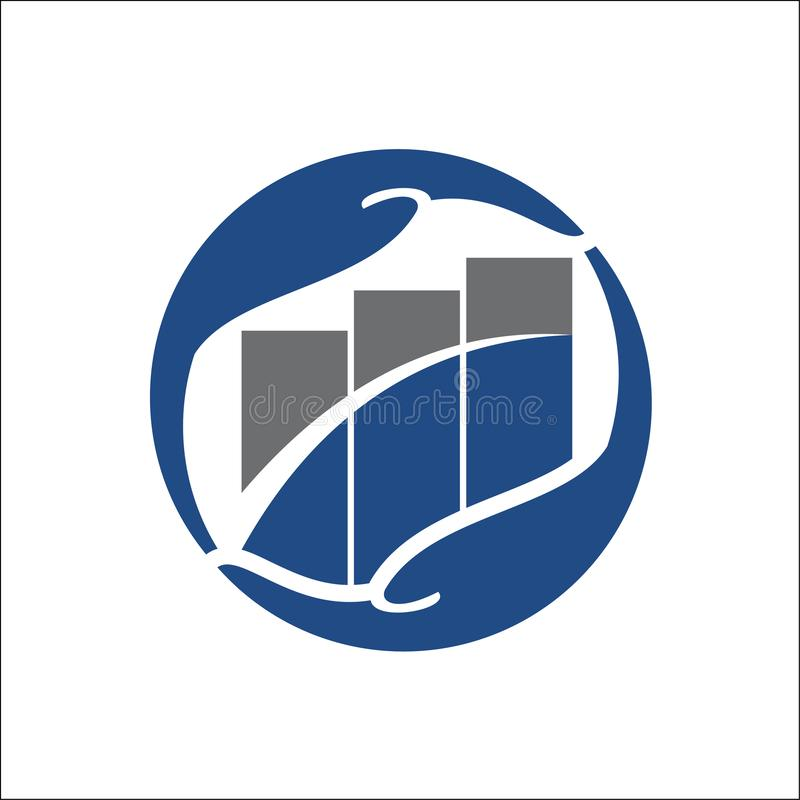 Malplaatje van het bedrijfsfinanci?n het professionele embleem stock illustratie