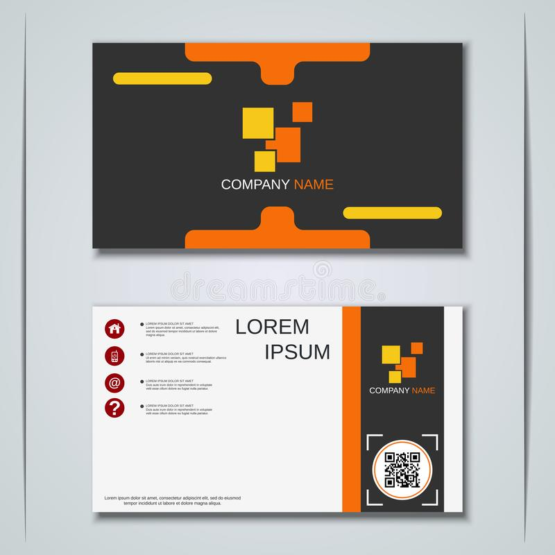 Malplaatje van het bedrijfsvisitekaartje het vectorontwerp stock illustratie