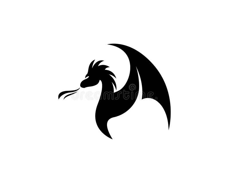 Malplaatje van het draak het hoofdembleem vector illustratie