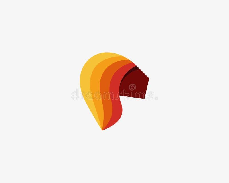 Malplaatje van het het embleemontwerp van de kleurenleeuw het hoofd vector Afrikaans dierlijk gezicht logotype vector illustratie