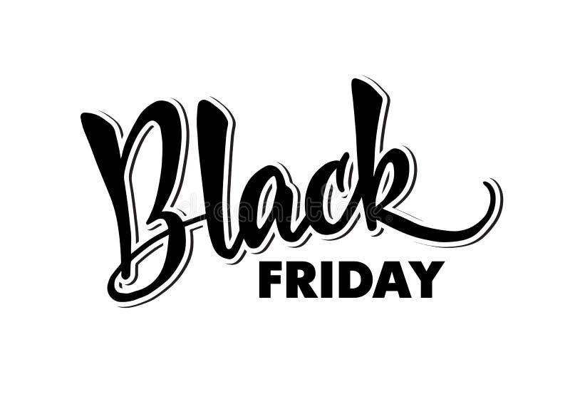 Malplaatje van het handlettering Black Friday Moderne kalligrafie voor royalty-vrije stock afbeelding