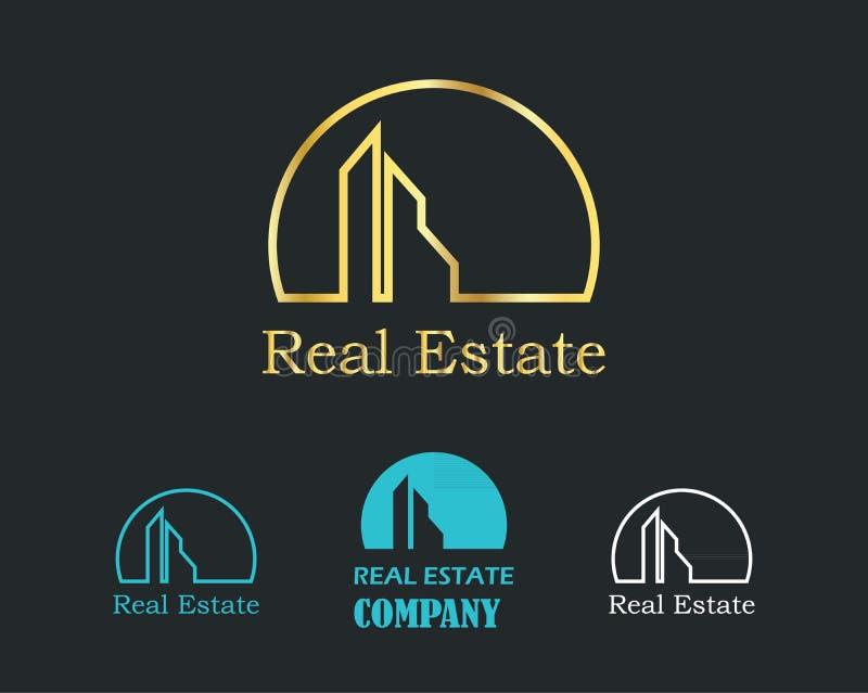Malplaatje van het het embleemontwerp van Real Estate het Creatieve stock illustratie