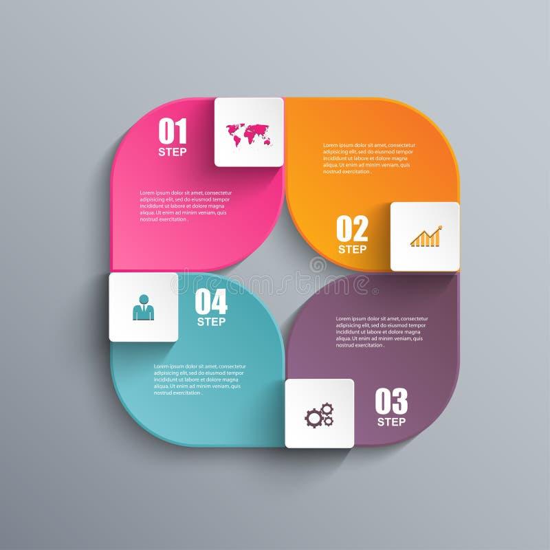 Malplaatje van het Infographics het vectorontwerp royalty-vrije illustratie