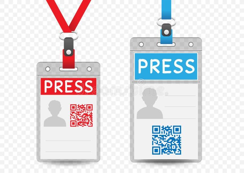 Malplaatje van het pers het verticale kenteken stock illustratie