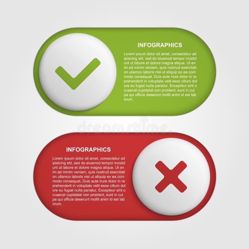 Malplaatje van het schuif het infographic ontwerp royalty-vrije illustratie
