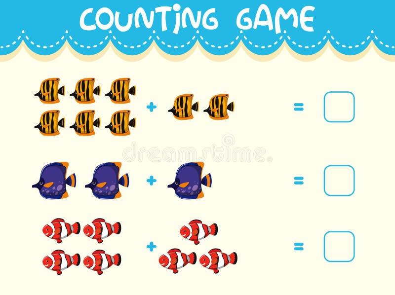 Malplaatje van het wiskunde het tellende spel vector illustratie