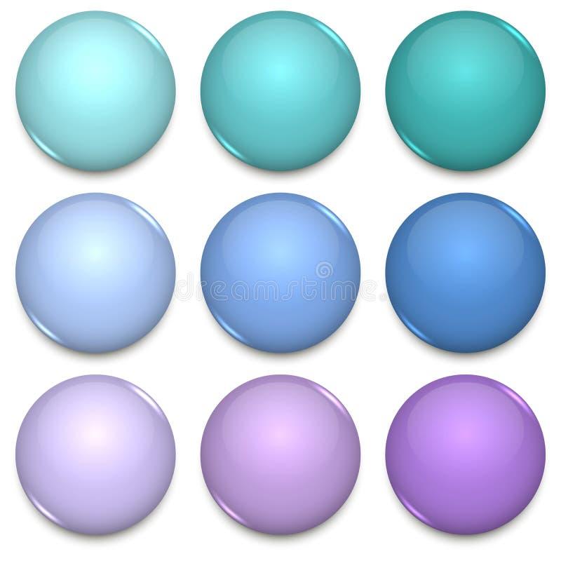 Malplaatje van kleuren het glanzende lege kentekens vector illustratie