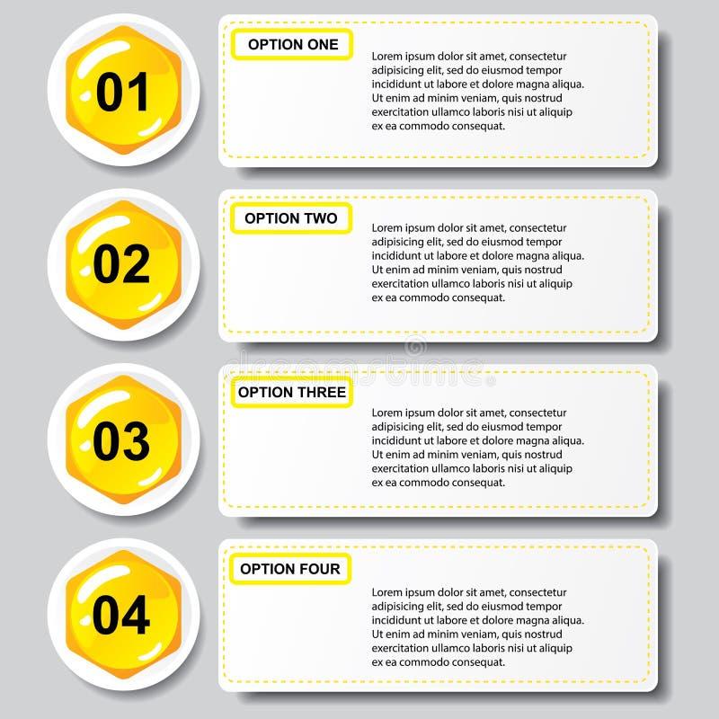 Malplaatje van van het bedrijfs bijenkorf het moderne ontwerp aantalbanners of websitelay-out Informatie-grafiek Vector vector illustratie