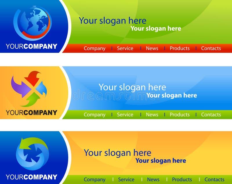 Malplaatje van websitebanners royalty-vrije illustratie