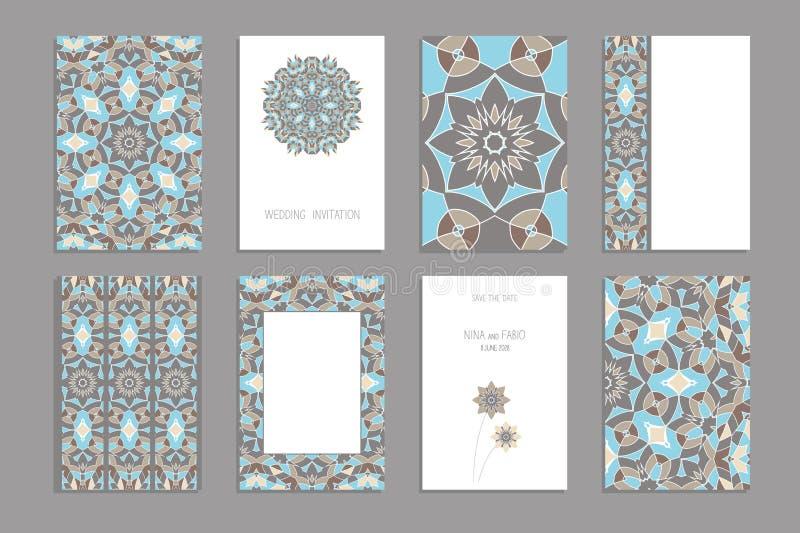 Malplaatje voor groet en adreskaartjes, brochures, dekking stock illustratie