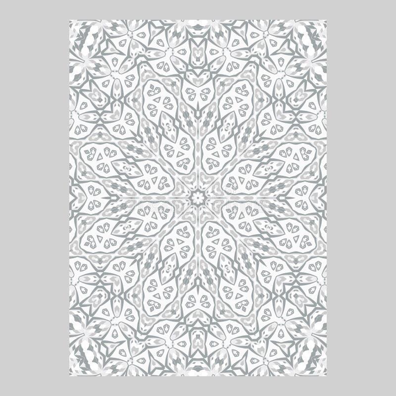 Malplaatje voor groet en adreskaartjes, brochures, dekking Oosters patroon mandala royalty-vrije illustratie