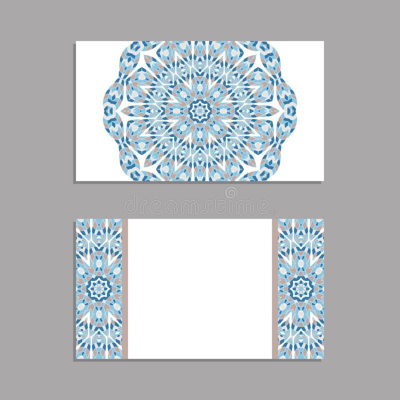 Malplaatje voor groet en adreskaartjes, brochures, dekking Oosters patroon mandala stock illustratie
