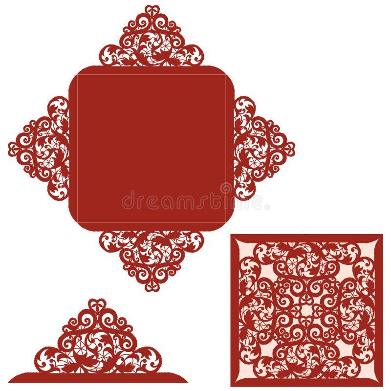 Malplaatje voor groetkaart royalty-vrije illustratie