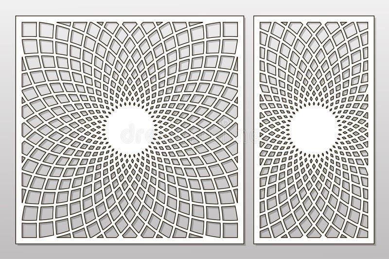 Malplaatje voor knipsel Mandala, Arabesque-patroon Laserbesnoeiing reeks stock foto's